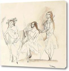 Картина Три девушки, 1917