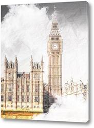 Постер Биг Бен Лондон