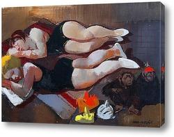 Картина Спящие цирковые артистки, 1933