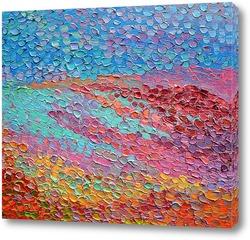 Картина Розовое озеро