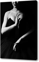 Постер Балерина в черном, танец