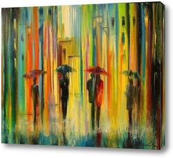 Влюбленные под зонтом