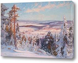 Проселочная дорога в зиму