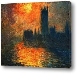 Парламент,эффект заката,1904г.