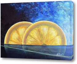 Постер Картина маслом. Лимончики. Холст 30х40