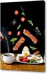 Постер Глазунья с беконом