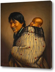 Картина Хеени Хирини с ребёнком