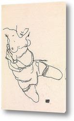 Стоящая обнаженная с оранжевой драпировкой, 1914