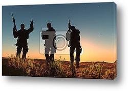 Группа солдат