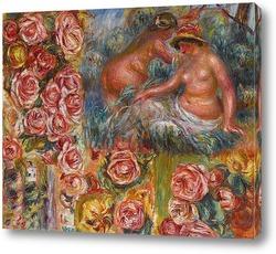 Картина Обнаженные и цветы