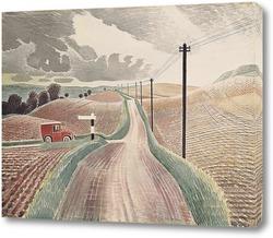 Постер Уилтширский пейзаж