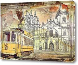 Постер Старинный трамвай