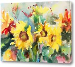 Постер Осенние цветы