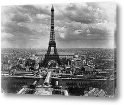 Строительство Эйфелевой башни.