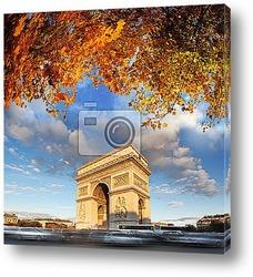 Эйфелева Башня с парком, в Париже, Франция