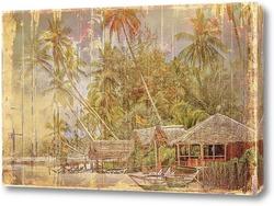 Картина Домик у моря