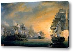 Морской бой между Французским и Английским флотами близ Кадиса