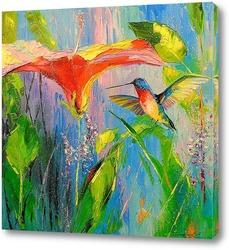 Картина Колибри и цветок