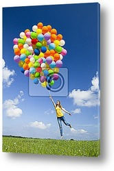 Flying with balloons