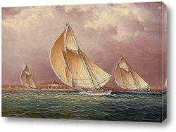 Американские корабли на побережье