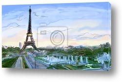 Улица Парижа - иллюстрация