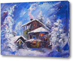 Картина Зимний вечер