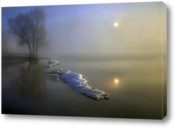 Постер ледоход на реке