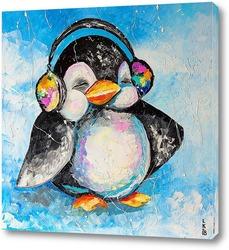 Картина Пингвин меломан