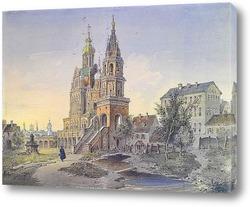 Вид на Московский Кремль со стороны реки