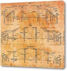 Картина Схема моста