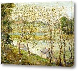 Картина Весеннее время.Река Гарлем