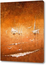 Картина Шаланды полные кефали