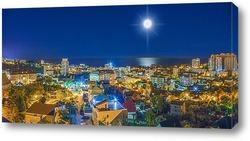 Постер Лунная дорожка. Панорамный вид Мамайки (район Сочи)