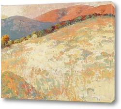 Постер Поле, закат, 1928