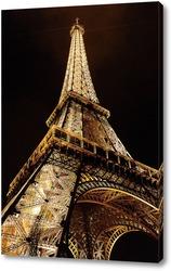 Постер Эйфелева башня ночью