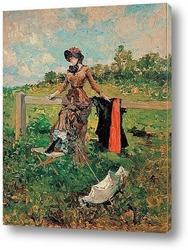 Картина Дама с зонтиком