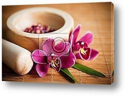 Composition zen - fleurs orchidГ©e et pierres
