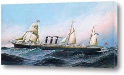 Постер Американский корабль