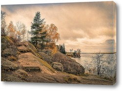 Постер Выборг. Осень в парке Монрепо.