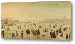 Картина Сцена на льду