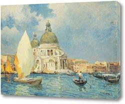 Картина Венеция. Канал, Базилика Санта-Мария делла салюте