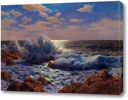 Картина Восход Луны, Средиземноморье