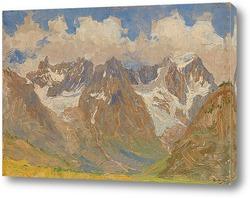Картина Горы и облака