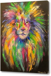 Картина Красавец лев