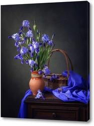Постер Холодная красота голубых ирисов