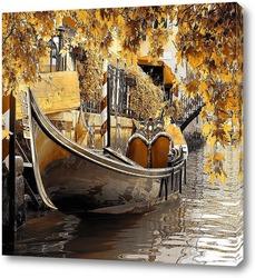 Постер Лодка в Венеции