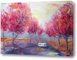 Картина Жизнь в розовом цвете