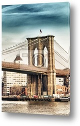 Постер      Вид на Бруклинский Мост