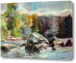 Картина Вода и камни Карелии