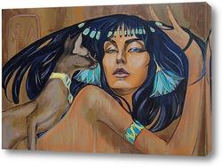 Постер Египтянка и кошка